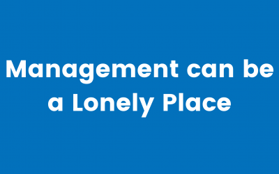 Managing HR, with Kieron Hill: Management can be a Lonely Place